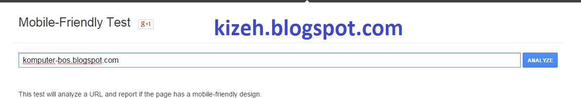 Kolom untuk memasukan URL