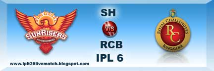 IPL Match 7 Sh vs RCB Live Streaming Video and Highlight