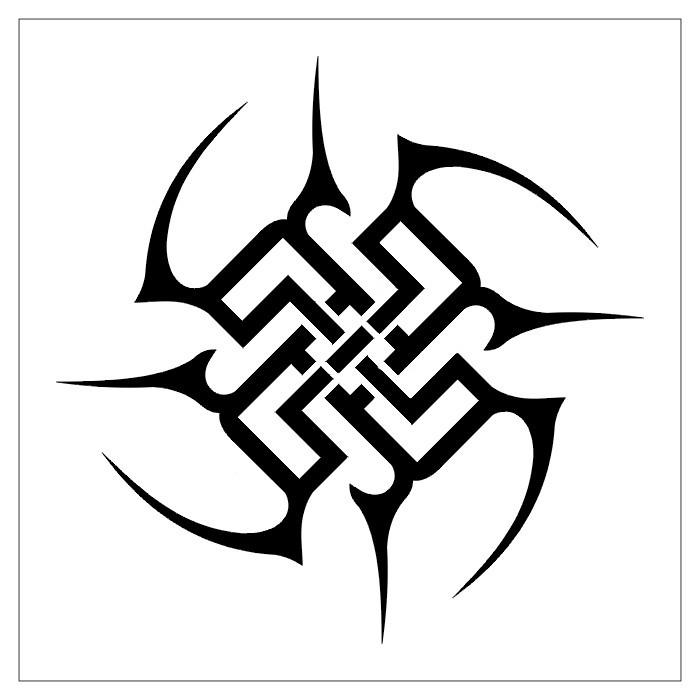 Tattoos circular tattoo stencils 2 for Easy tribal tattoos