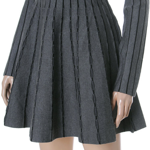 Vertical Stripe Knit Dress