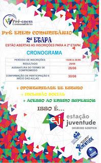 Prefeitrura de Delmiro Gouveia abre inscrições para a segunda etapa do Pré-Enem Comunitário