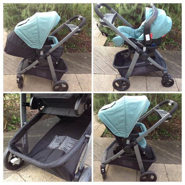 Graco Sky Travel System Sea Pine Pram Travel System Pushchair Stroller Carseat Baby nest