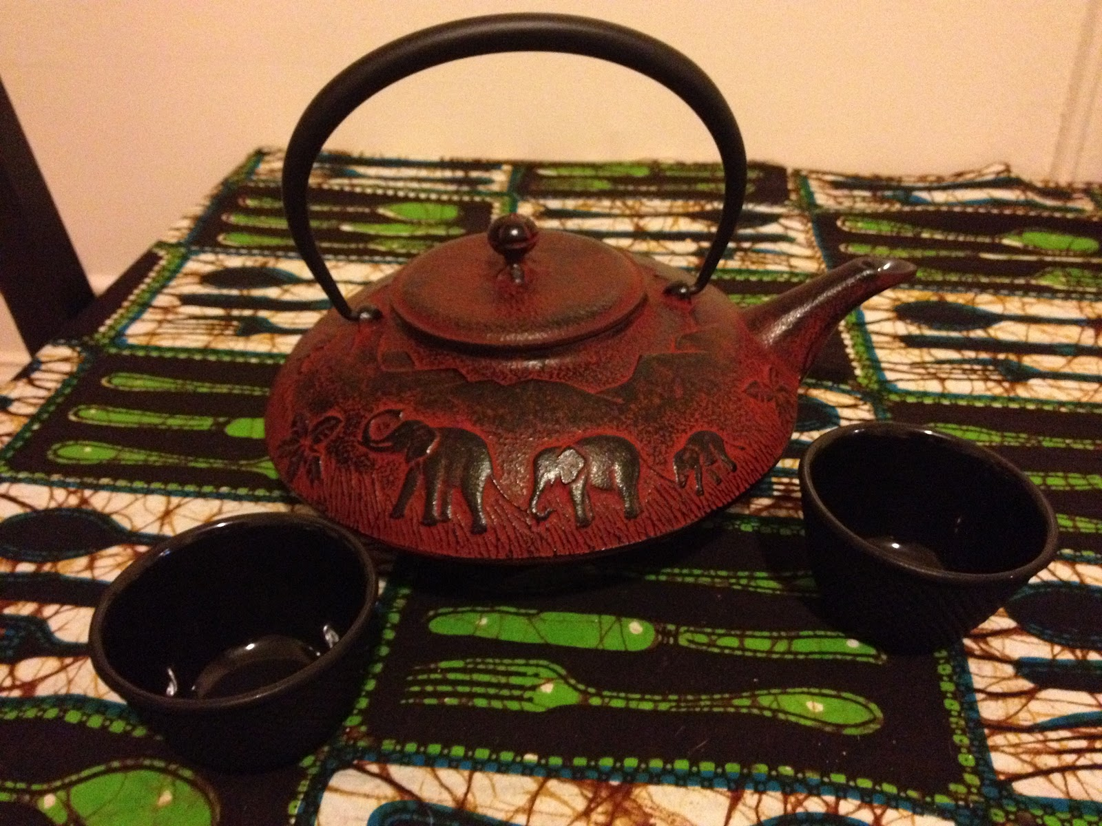 Look to beauty teavana cast iron tea set elephants and green tea - Elephant cast iron teapot ...