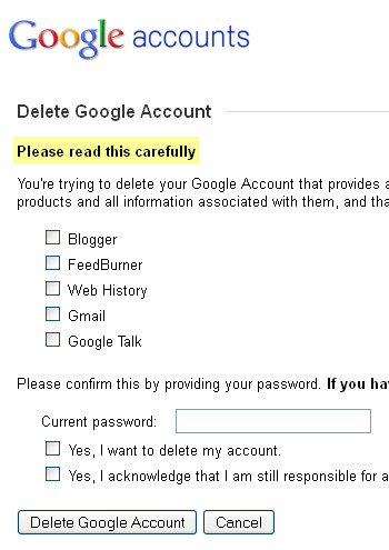 Google+ - Delete Google Account