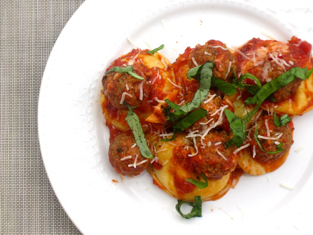Meatball Ravioli Bake