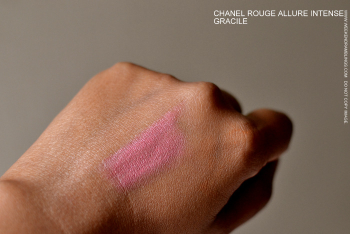 Chanel Makeup Rouge Allure Luminous Intense Beige Pink Lipstick Gracile Indian Darker Skin Beauty Blog Swatches Reviews FOTD Looks
