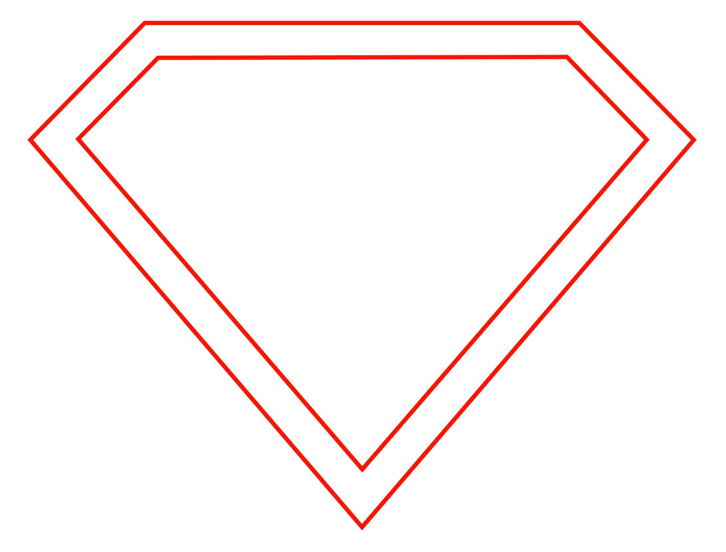 superman logo outline pages docstoc free batman symbol