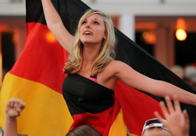 Germany girls fans Euro 2012