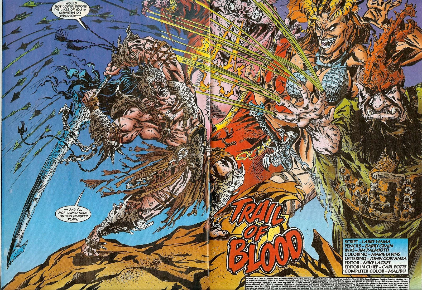 1995 Larry Hama /& Barry Crain Conan No.3