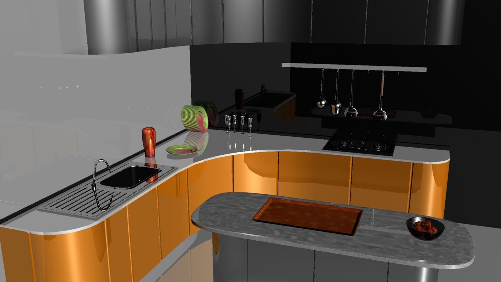 3d Modeling 0 2 Kitchen