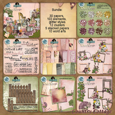 Scraps & more outta my mind: Country Cottage Collab + New CU + Freebie