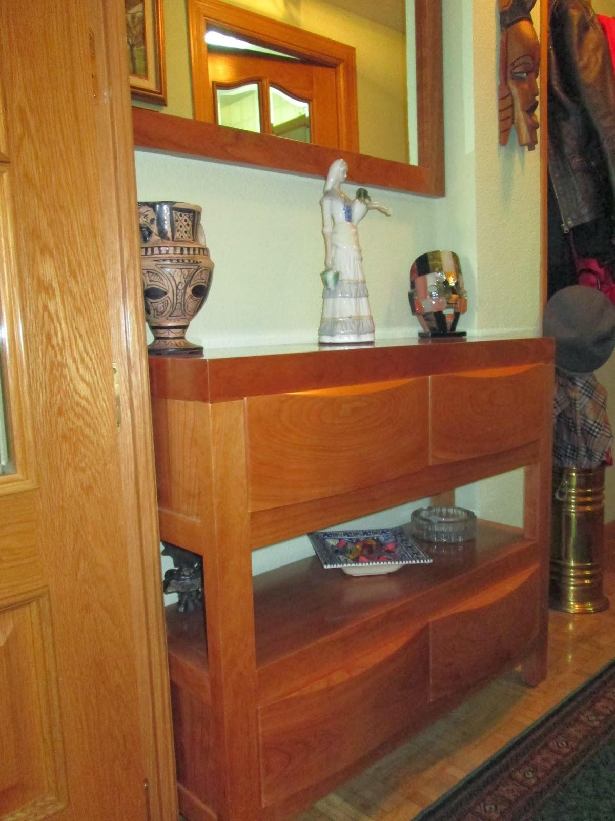 Carpinteria y ebanisteria alfageme aparadores recibidores y bureaus - Aparadores de entrada ...