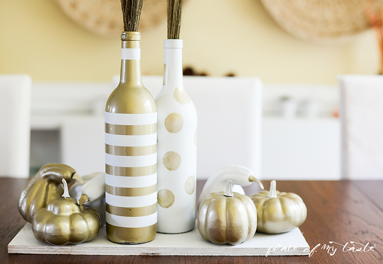 DIY Upcycled Wine Bottle Centerpieces