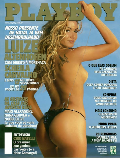 Luize Altenhofen e Scheila Carvalho - Playboy 2001