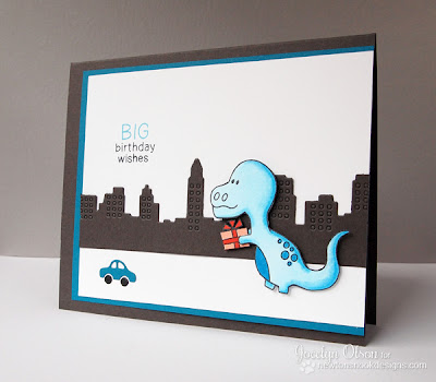 Dinosaur Card for Newton's Nook Designs