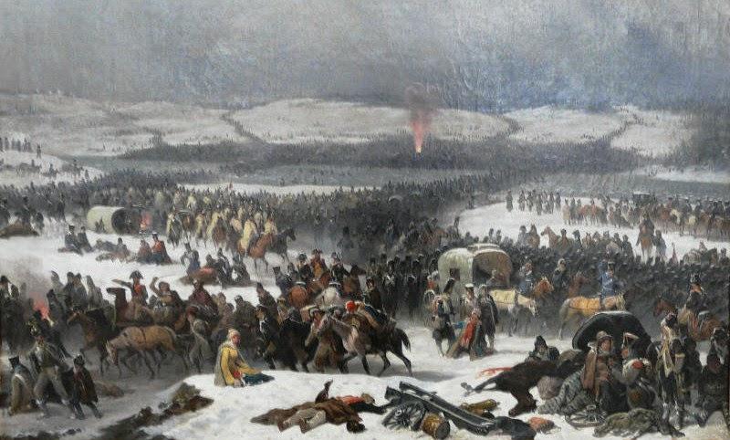Paso del Beresina por Napoleon