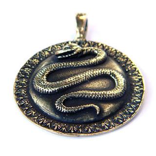 купить кулон из бронзы змей змея со змеей украина глюкоморье