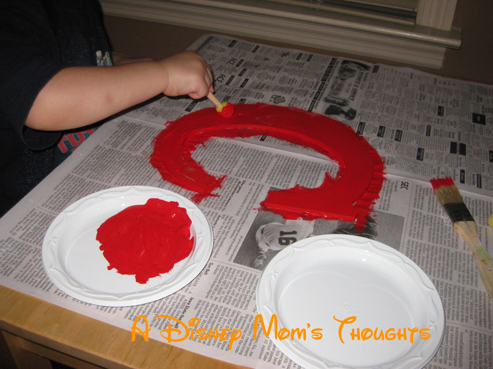 You Could Also Paint The Top Half Black And Bottom Red Only Adding White Dots To Part Instead Of A Wooden Initial