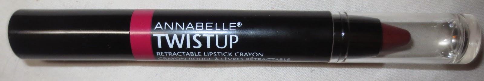 Annabelle TwistUp Retractable Lipstick Crayon in Cherry