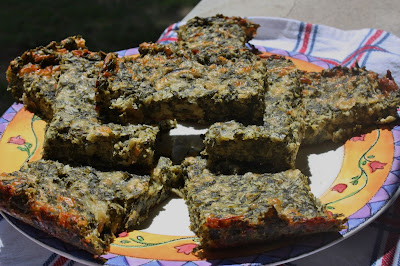 garlic spinach cheese squares
