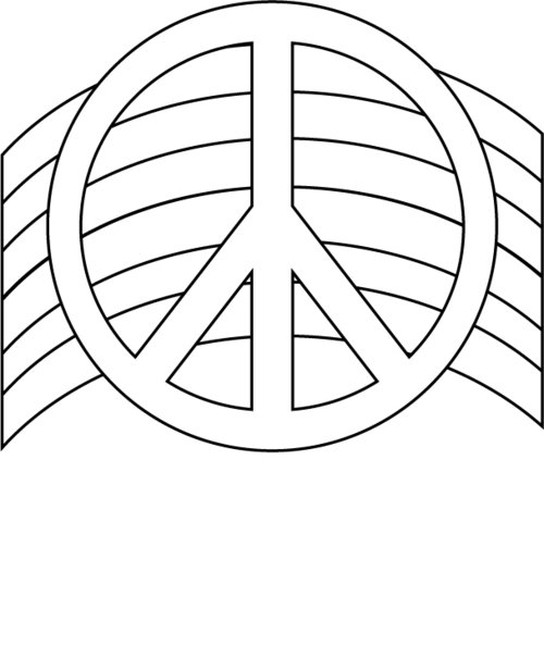 Free Printable Peace Sign Coloring Pages title=