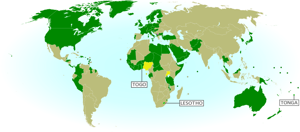 Map Update Kosovo Recognized By More Countries In - Lesotho maps with countries