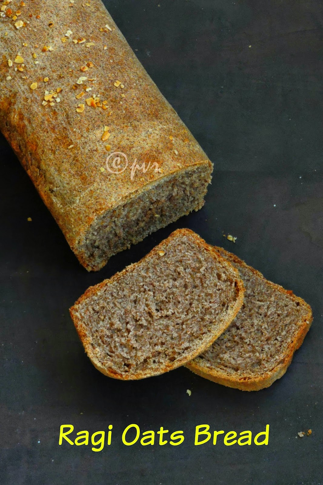 Ragi Oats Bread Loaf, Ragi Bread