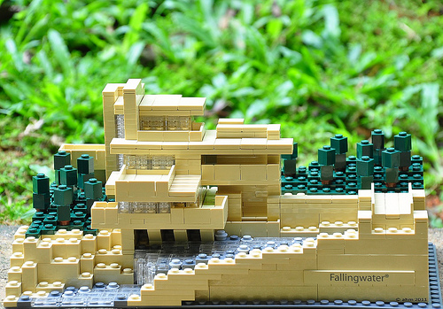 Architecture diagrams galleries lego architecture fallingwater - Falling waters lego ...
