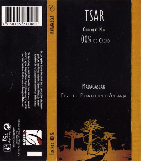 tablette de chocolat noir dégustation tsar chocolat noir madagascar 100