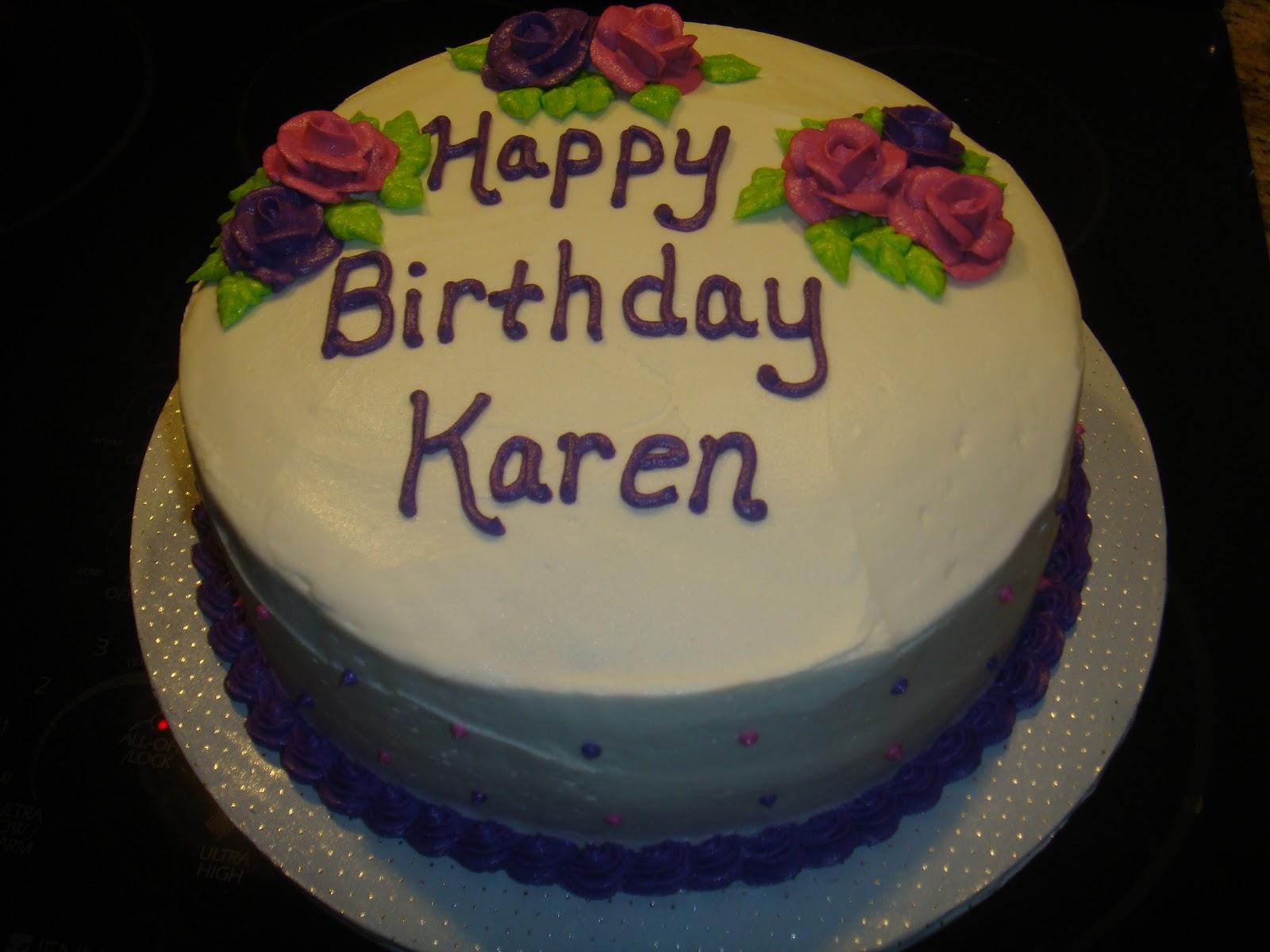 Vicki s Sweet Treats: Karen s Birthday Cake - Traditional
