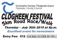 5k race in S.Tipperary...Thurs 30th July