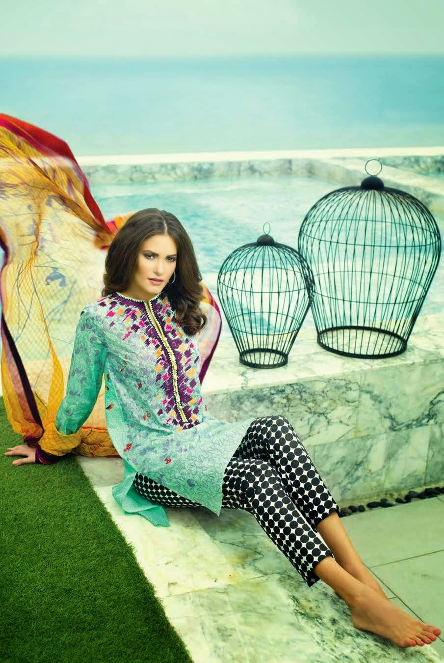 Sania Maskatiya 2015 lawn collection