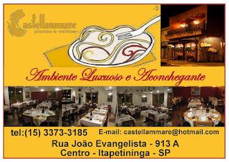 Cantina   Castellammare   Rua João Evangelista - 913 A   Centro - Itapetininga  E-mail: castellamma