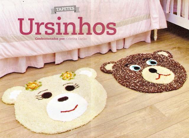 ursos em croche com receita tapetes