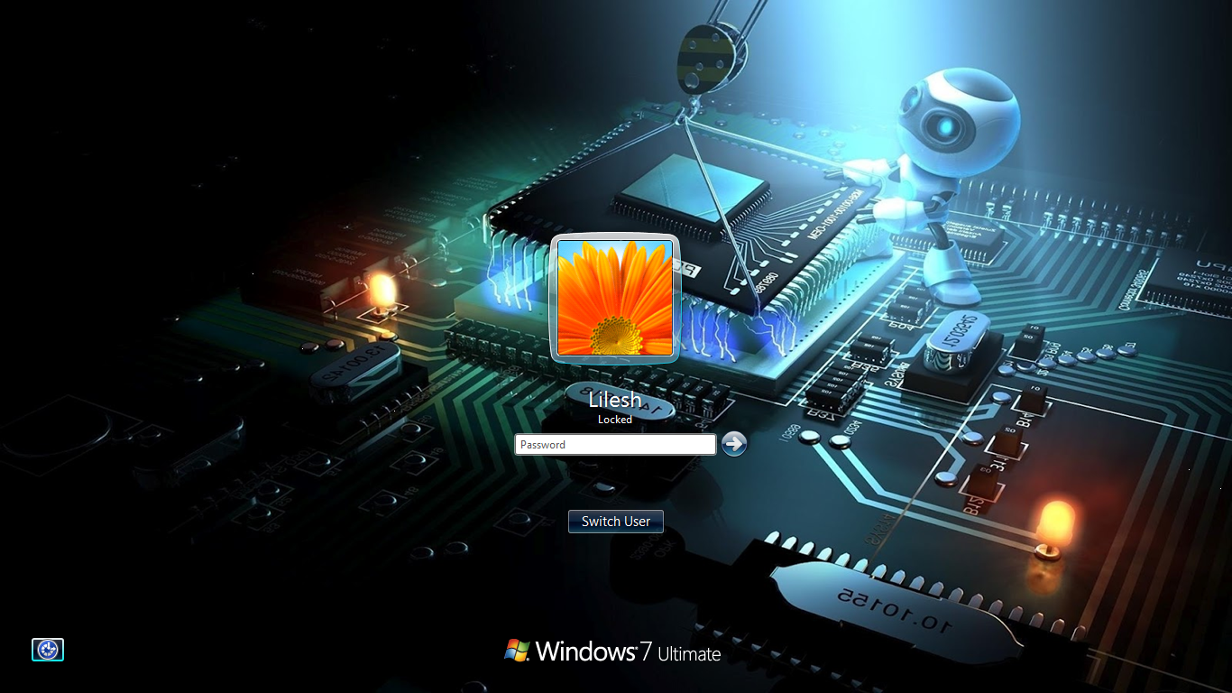 windows 7 logon screen background