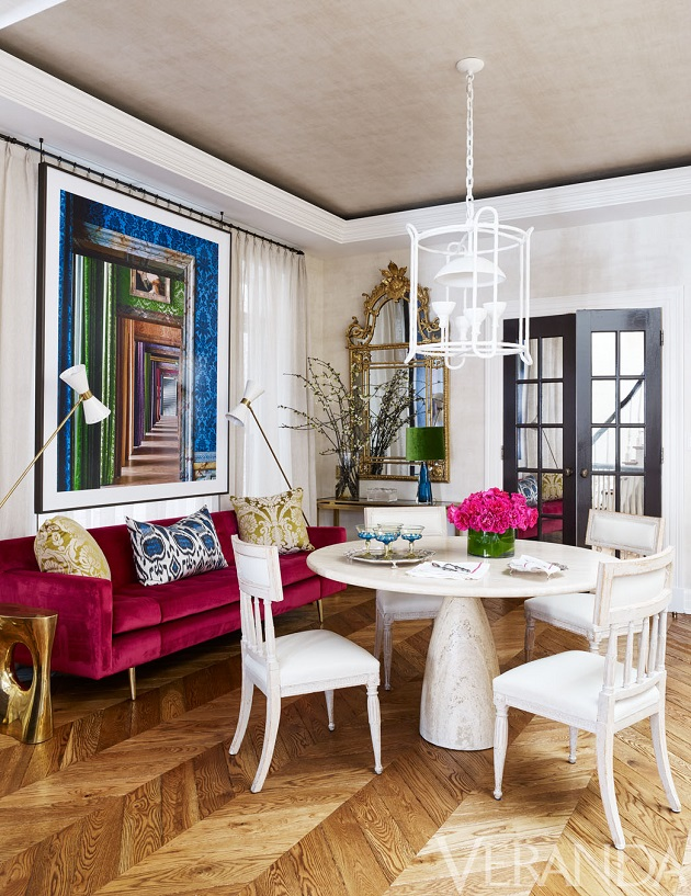 Mix and chic home tour a chic colorful and updated chicago townhouse - Veranda dining rooms ...