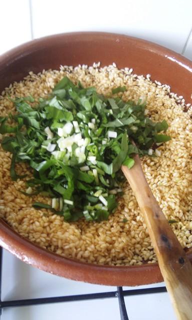 Obs d culinaire notoire riz aux pinards et ail des ours - Peut on donner du riz cuit aux oiseaux ...