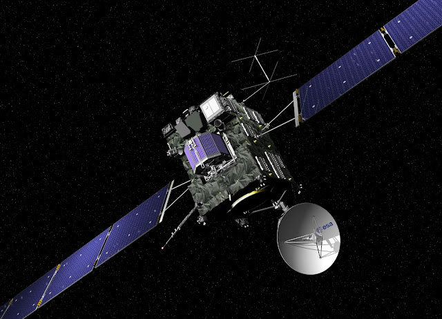 Rosetta spacecraft enroute to comet 67P Churyumov Gerasimenko