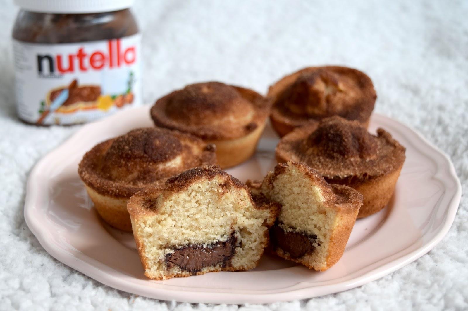 Nutella Stuffed Cinnamon Sugar Muffins