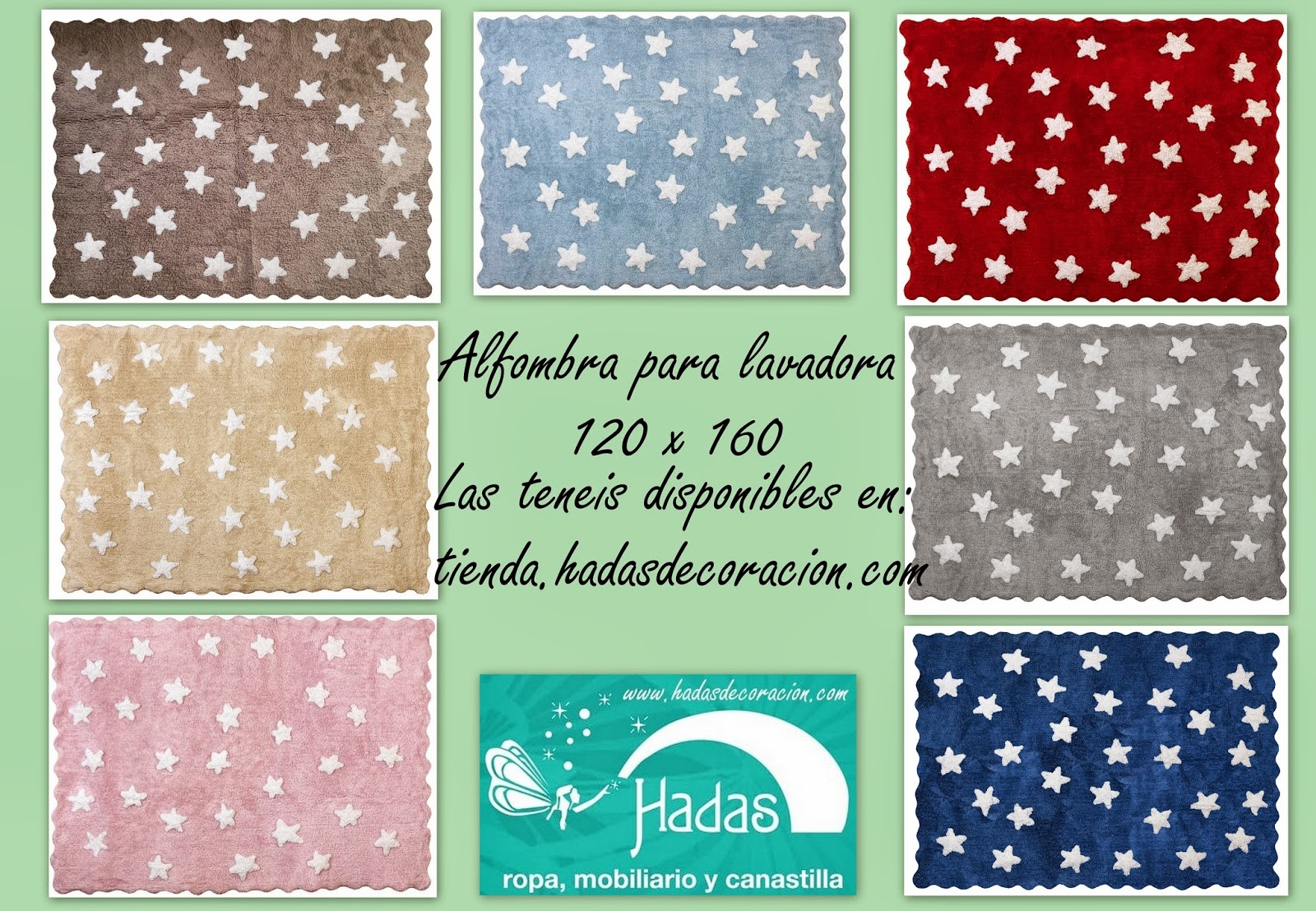 Hadas moda y decoracion infantil alfombra para lavadora eden - Alfombras ninos lavables ...