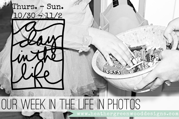 sharing Thursday's through Sunday's photos from Ali Edwards' Week In The Life project