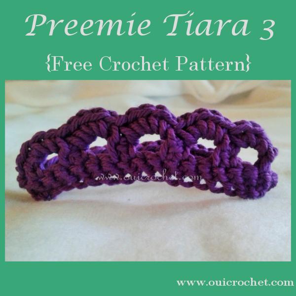 Oui Crochet: Preemie Tiara 3 {Free Crochet Pattern}