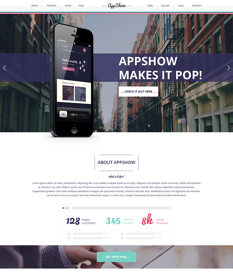 Clean and Multipurpose Onepage PSD Template