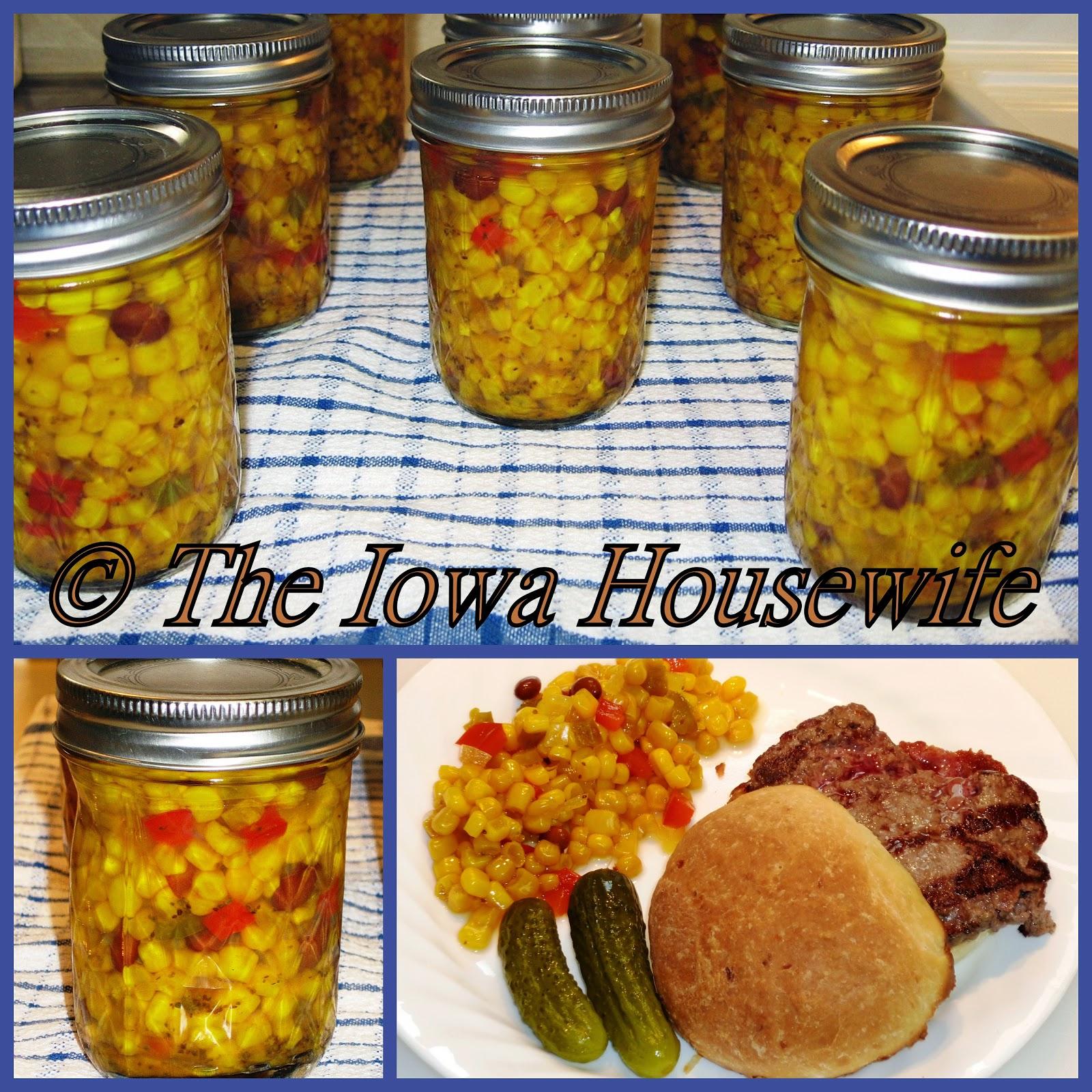 The Iowa Housewife: Sue's Easy Corn Relish