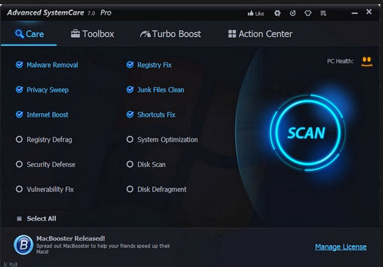 Advanced SystemCare 7 Free Download 2014 For PC