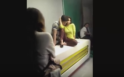 Alden and Maine sweet moment off cam