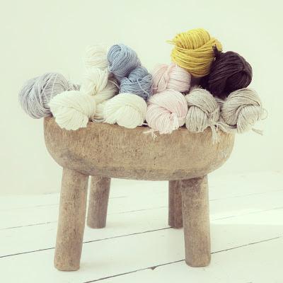 ByHaafner, linen yarn, pastel, Ghanaian stool, organic cotton