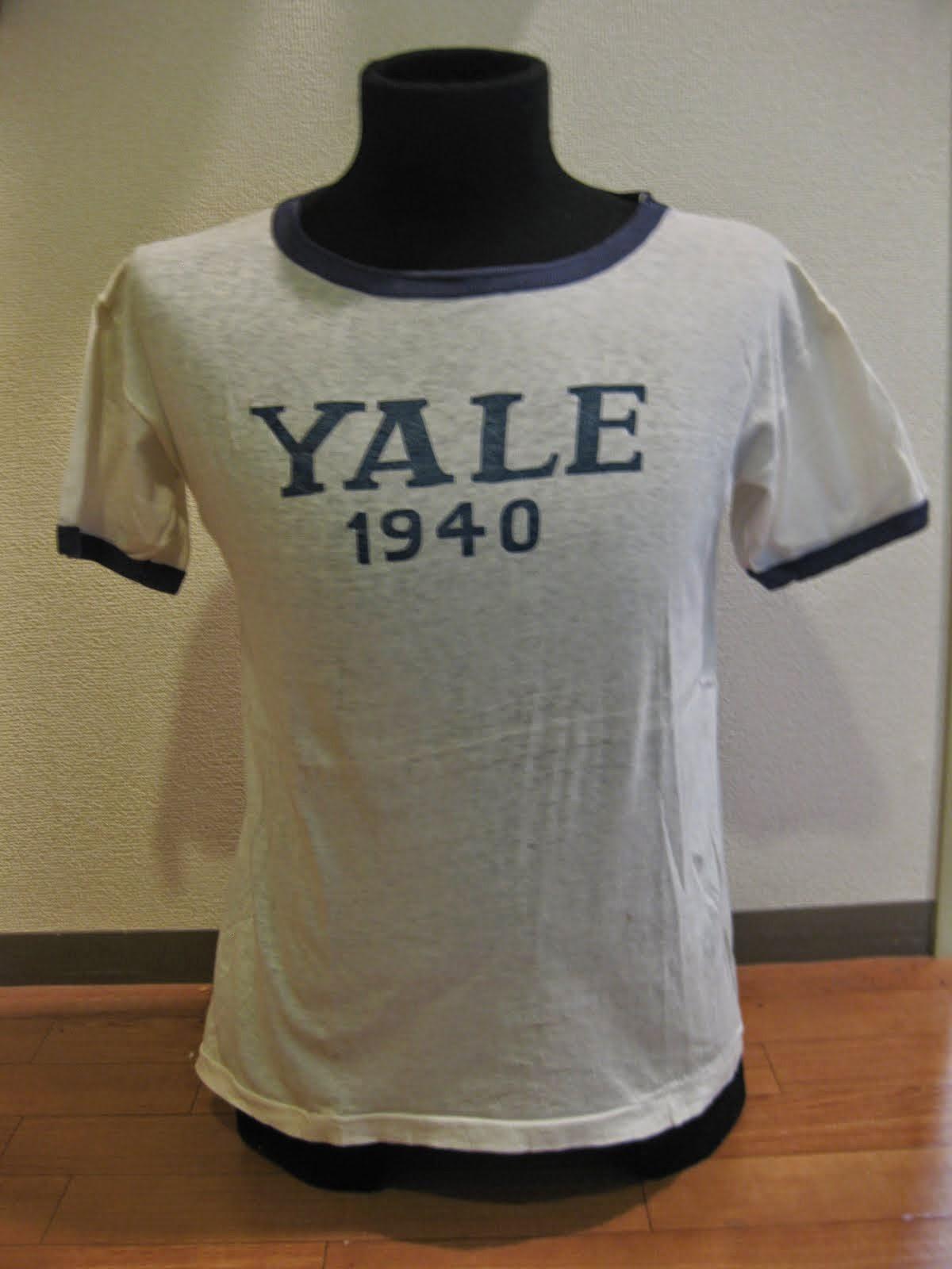 1940's                    「YALE UNIVERSITY」 Tee