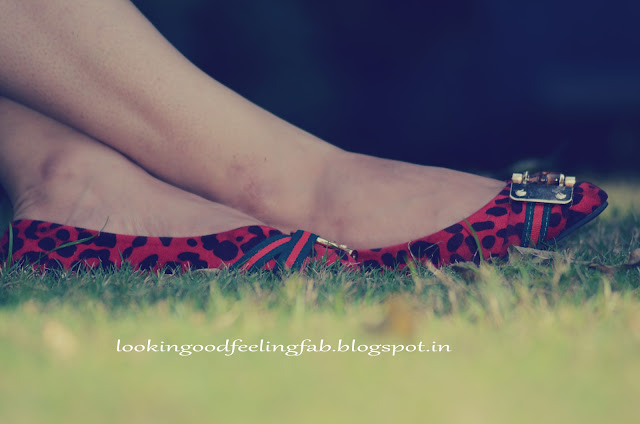 retro dress roses and lace, red leapord print shoes