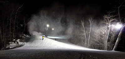Skiing at West Mountain, Wednesday night, 01/29/2014.  The Saratoga Skier and Hiker, first-hand accounts of adventures in the Adirondacks and beyond, and Gore Mountain ski blog.